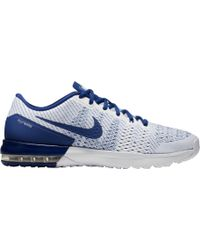 blue and white nike air max typha