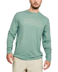 f95576e36 Lyst - Under Armour Waffle Long Sleeve Shirt in Blue for Men