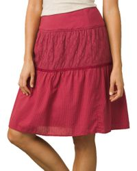 4d705314ba Lyst - Prana Jacinta Skirt in Purple