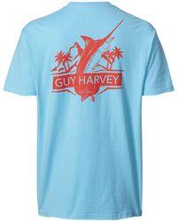 153ca19bef84 Guy Harvey Resolution Short Sleeve T-shirt in Blue for Men - Lyst