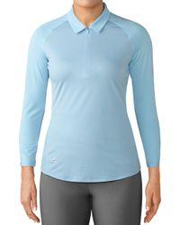 adidas - Zippered 3⁄4-sleeve Golf Polo - Lyst