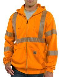 Carhartt - High-visibility Class 3 Full Zip Hoodie - Lyst