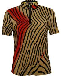 Jamie Sadock - Jaime Sadock Tiger Fish Crinkle Short Sleeve Polo - Lyst