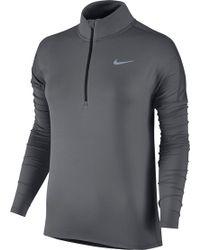 Nike - Dry Element Half Zip Long Sleeve Running Shirt - Lyst