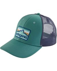 9122dfcfa Patagonia Eat Local Upstream Lopro Trucker Hat in Blue for Men - Lyst