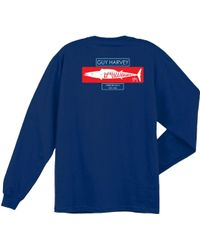 c948eeb779db4 Guy Harvey - Wahoo Stencil Long Sleeve Shirt - Lyst