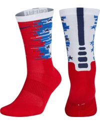 Nike - Elite 1.5 4th Of July Crew Socks - Lyst