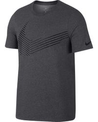 2a9a713b2a57 Lyst - Nike Sportswear Swoosh Fade Graphic T-shirt in Black for Men