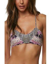 O'neill Sportswear - Zanzibar Racerback Bikini Top - Lyst