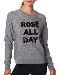 Betsey Johnson - Performance Rosé All Day Sequin Sweatshirt - Lyst