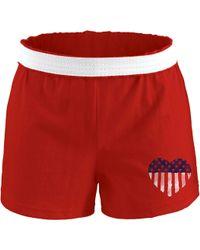 Soffe - Juniors' Memorial Day Cheer Shorts - Lyst