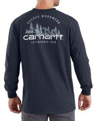 190b7b9a7 Carhartt - Workwear Rugged Outdoors Mountain Pocket Long Sleeve Shirt - Lyst