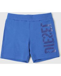 DIESEL - Shorts With Side Graphics - Lyst