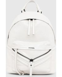 DIESEL - Coated Leather Backpack With Patches - Lyst