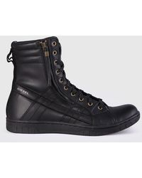 DIESEL - Leather Hybrid Style With Suede Details - Lyst
