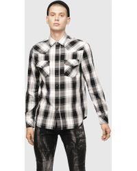 DIESEL - Check Shirt In Yarn-dyed Flannel - Lyst