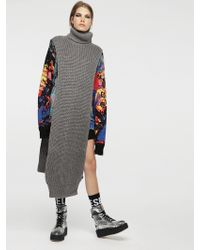 DIESEL - Extra Long Poncho With High Neck - Lyst
