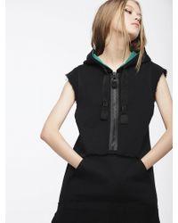 DIESEL - Hooded Cotton Dress With Half Zip - Lyst
