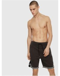 DIESEL - Loungewear Shorts With Contrast Trim - Lyst