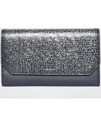 DIESEL - Bold Tri-fold Wallet With Crackled Flap - Lyst