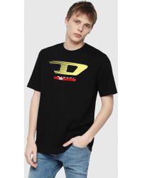 DIESEL - Jersey T-shirt With D Logo - Lyst