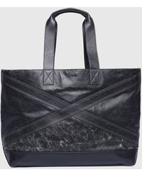 DIESEL - Shopping Bag With Shiny Hardware - Lyst