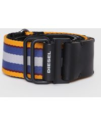 DIESEL - Woven Fabric Belt With Double D Ring - Lyst