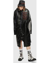 DIESEL - Zip-front Parka With Coated Finish - Lyst