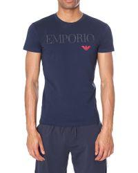 Emporio Armani - Mega Logo Crew Neck Short Sleeve Tee - Lyst