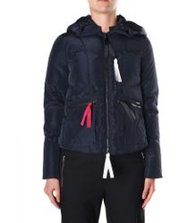 Armani Jeans - Women's Zip Through Hooded Puffa Jacket Blue Night - Lyst