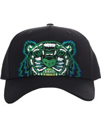 KENZO - Men's Tiger Canvas Cap Black - Lyst