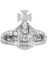 Vivienne Westwood - Women's Mini Orb Ring Rhodium - Lyst