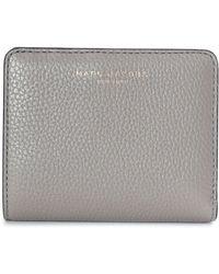 Marc Jacobs - Women's Gotham Mini Compact Wallet Stone Grey - Lyst
