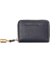Marc Jacobs - Mini Zip Card Case Black - Lyst