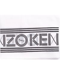 KENZO - Women's Sports Logo Scarf White - Lyst