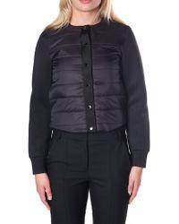 Armani Jeans - Women's Cropped Blouson Jacket Black - Lyst