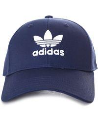 24292f445ab adidas - Men s Baseball Classic Trefoil Cap Collegiate Navy white - Lyst