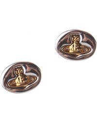 Vivienne Westwood - Embossed Logo Women's Stud Earrings Silver - Lyst
