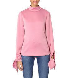 bebc0b7841a92 Ted Baker - Women s High Neck Sleeve Tie Top Coral - Lyst