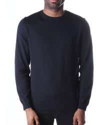 BOSS Black - Men's Finello Regular Fit Crew Neck Pullover Knit Dark Blue - Lyst