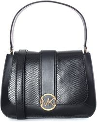 efae9c674e93 Michael Kors Anabelle Medium Tz Leather Tote Oyster in Natural - Lyst
