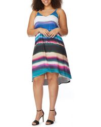 REBEL WILSON X ANGELS - Plus Size Printed Cami Swing Dress - Lyst