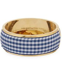 Kate Spade - Gingham Ribbon Bangle - Lyst
