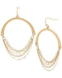 Kenneth Cole - Chain Gypsy Hoop Statement Earrings - Lyst