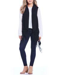 Silver Jeans Co. - Parker Cable Fringe Vest - Lyst