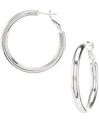 Dillard's - Dillard S Tailored Thick Wire Hoop Earrings - Lyst