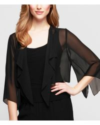 Alex Evenings - Chiffon Split-sleeve Bolero Jacket - Lyst