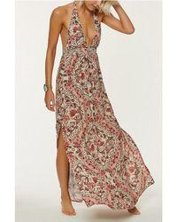 O'neill Sportswear - Dolley Halter Floral Print Maxi Dress - Lyst