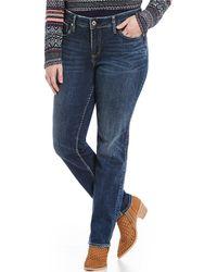 Silver Jeans Co. - Plus Size Mid-rise Boyfriend Jeans - Lyst