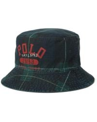 bcea95b0 Polo Ralph Lauren Oilcloth Bucket Hat in Green for Men - Lyst